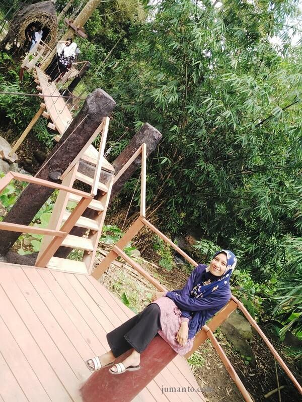 canopy bridge penangkaran rusa tahura wan abdul rahman