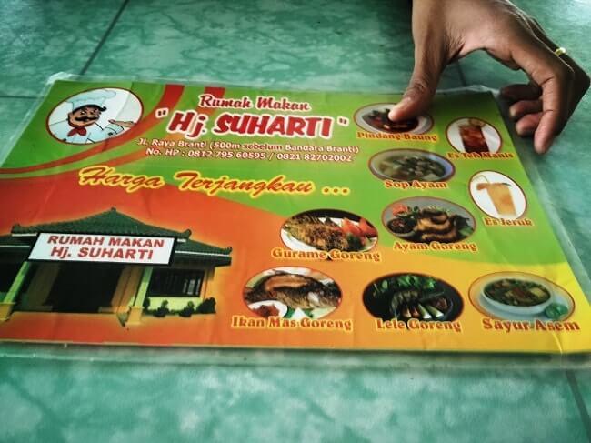 rumah makan hj suharti