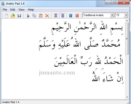 Tulisan Arab Bismillah Muhammad Alhamdulillah Insyaa Allah Dll