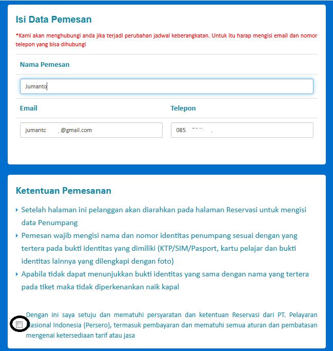 cara pesan tiket kapal laut online