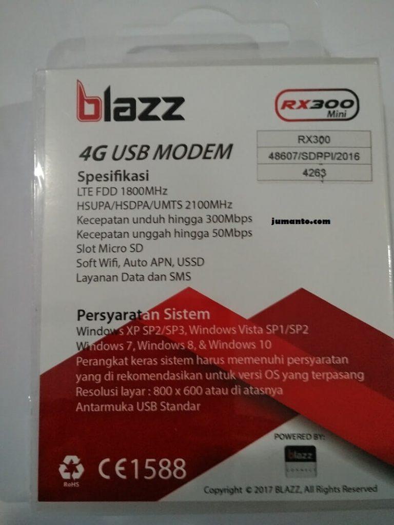 spesifikasi modem blazz rx300 mini