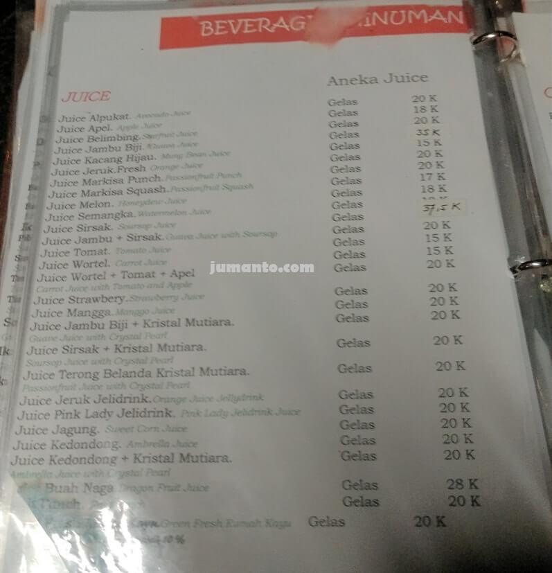 gambar menu makanan rumah kayu way halim