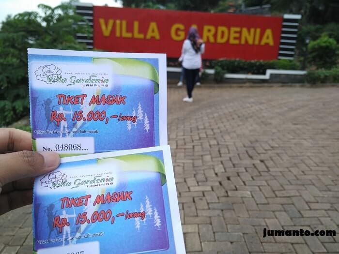 harga tiket masuk villa gardenia