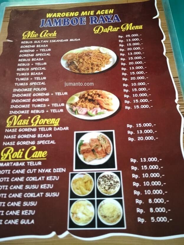 menu makanan kuliner mie aceh di bandar lampung