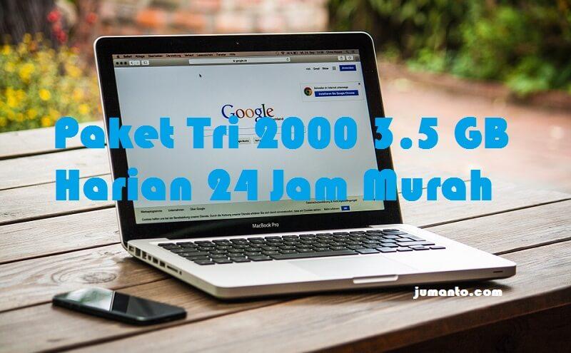 Paket Tri 2000 2,5 GB Murah Harian Buat Internetan