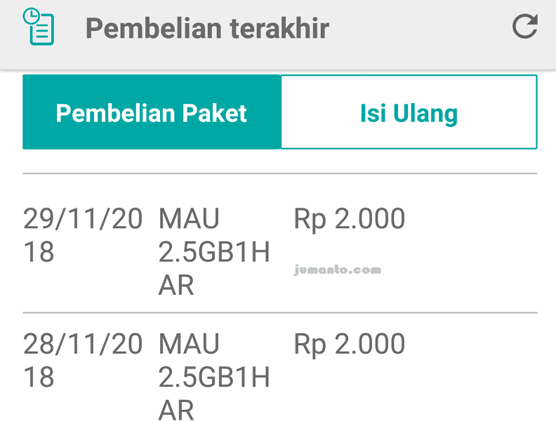 daftar paket tri 2000 3,5 gb harian 24 jam