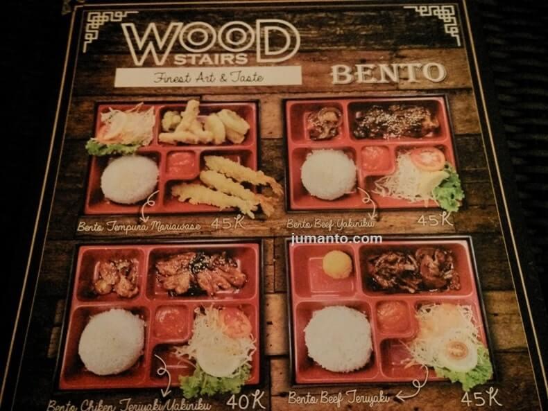 harga menu bento woodstairs cafe