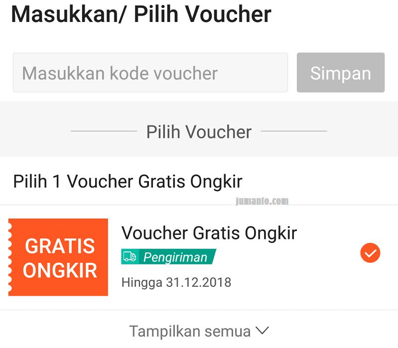 cara menggunakan voucher gratis ongkir shopee