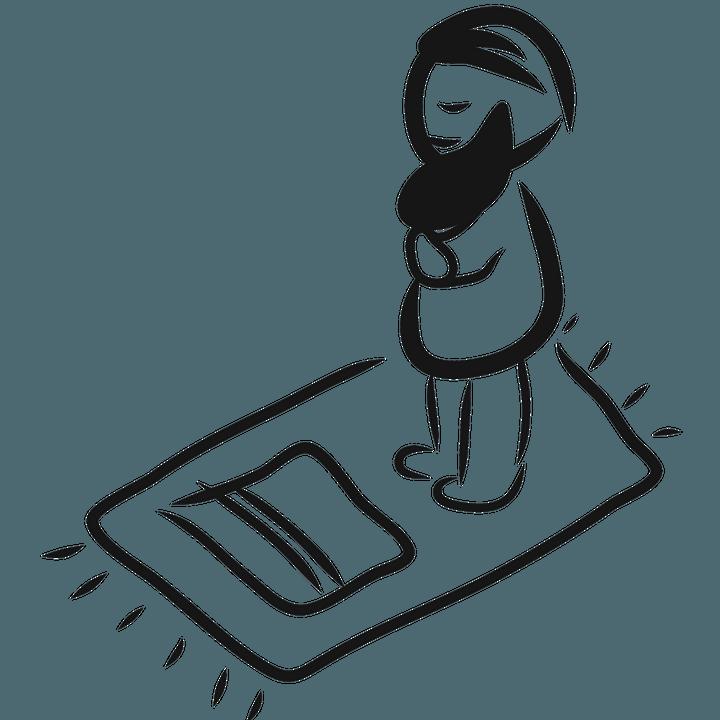 Cara Bersedekap Saat Shalat, Posisi Tangan Kanan Di Atas Tangan Kiri