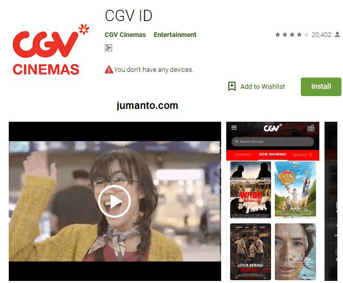 CGV ID, Aplikasi pembelian tiket bioskop online resmi milik CGV