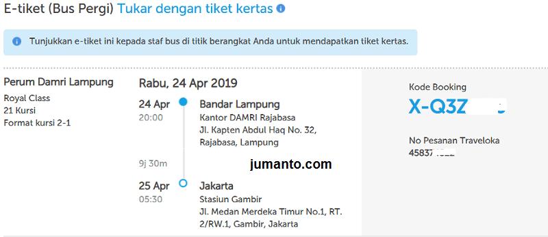 Pengalaman Cara Memesan Tiket Bus Damri Di Traveloka Bisa Reschedule