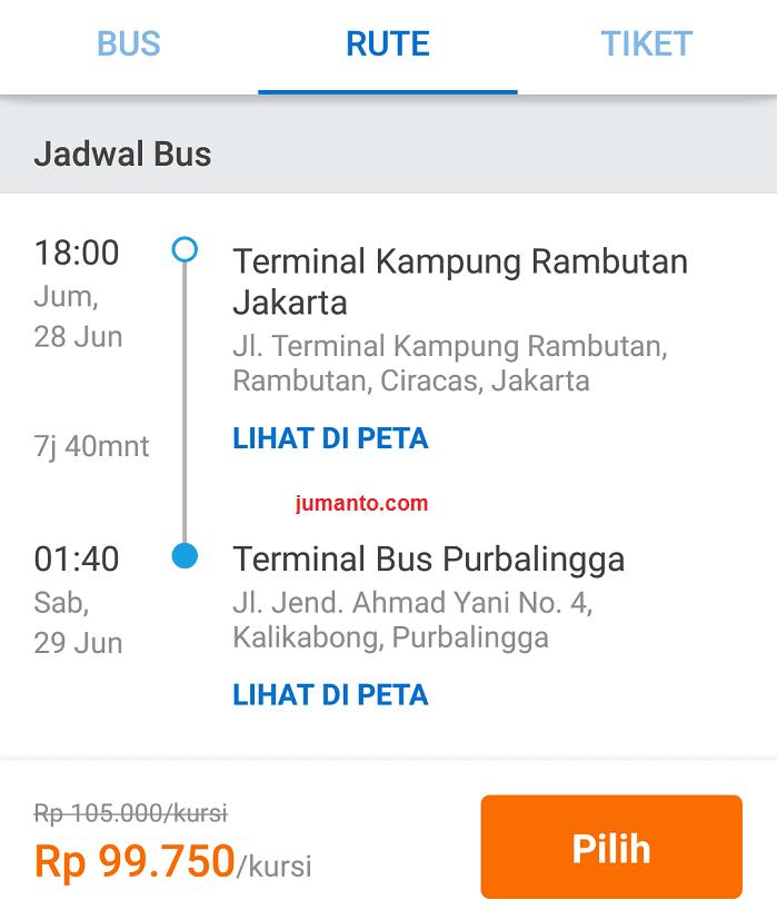 panduan cara memesan tiket bus online sinar jaya