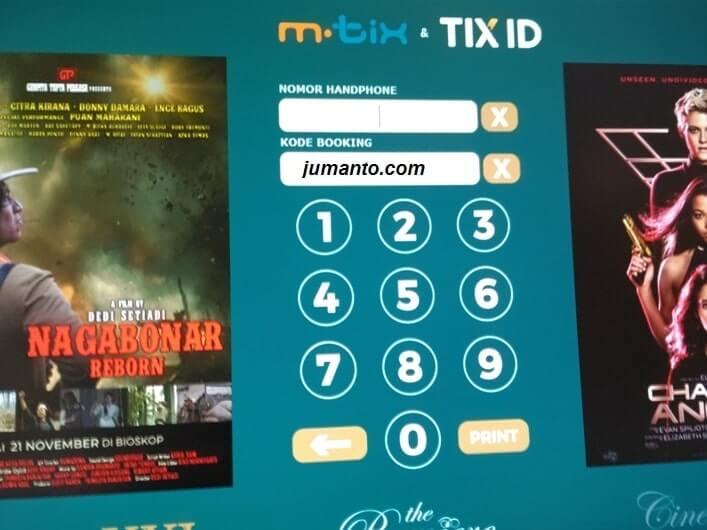 Cara Cetak atau Print Tiket Tix ID di Bioskop XXI atau Cinema 21