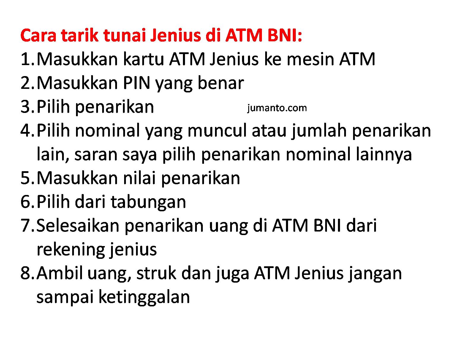 Cara Tarik Tunai Jenius di ATM Bank Apa Pun Bebas Biaya Penarikan